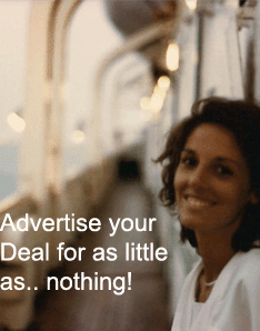 Advertise your deal for as little as.. nothing!