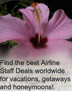 Find the best Airline Staff Deals worldwide for vacations, getaways and honeymoons!